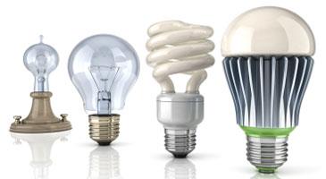 different types of lightbulbs