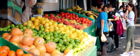 photo of produce market on 24th Street in the Mission District
