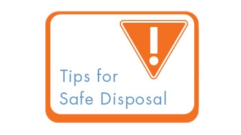 click here for tips on disposing of household hazardous waste