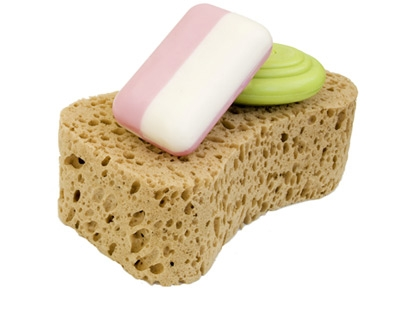 photo of sponge and soap for cleaning your home