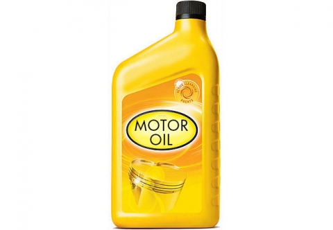 image of used motor oil bottle